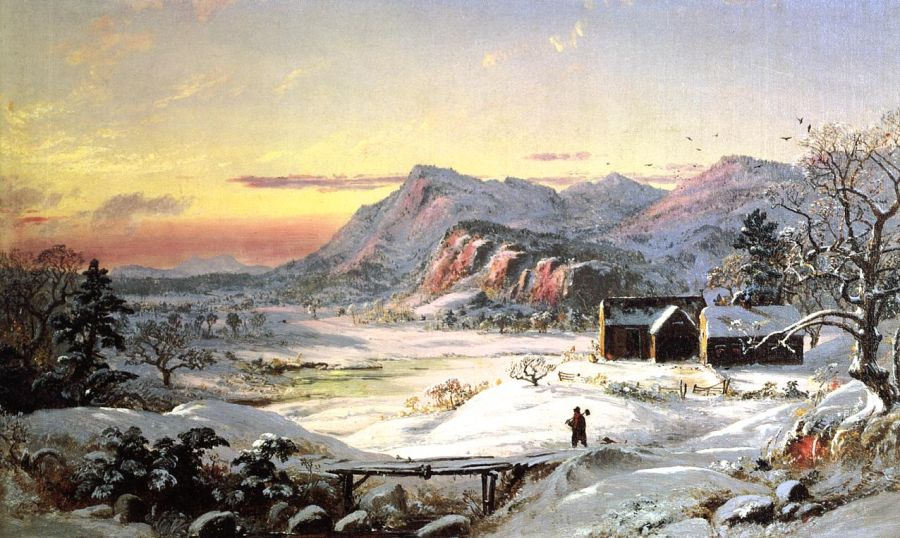 Jasper Francis Cropsey - Winter Scene, North Conway, New Hampshire