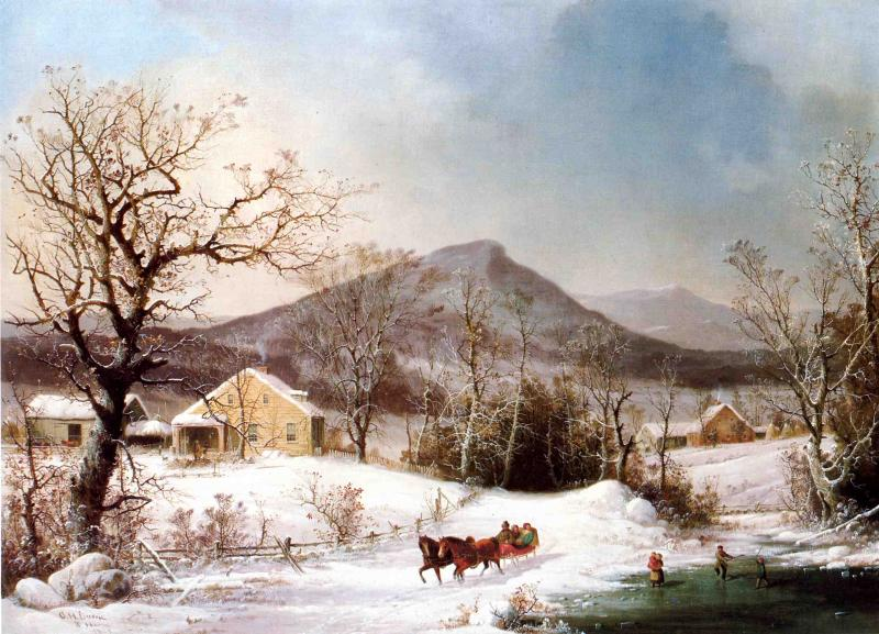 George Henry Durrie - Winter in the Country b