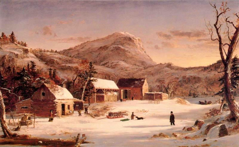 Jasper Francis Cropsey - Winter in the Rockies