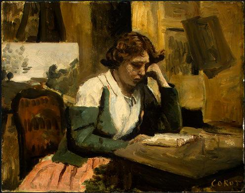 Jean Baptiste Camille Corot - Young Girl Reading