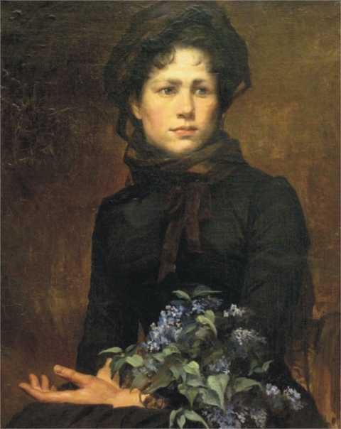 Marie Bashikirtseff - Young Lady with a Lilac Bouquet