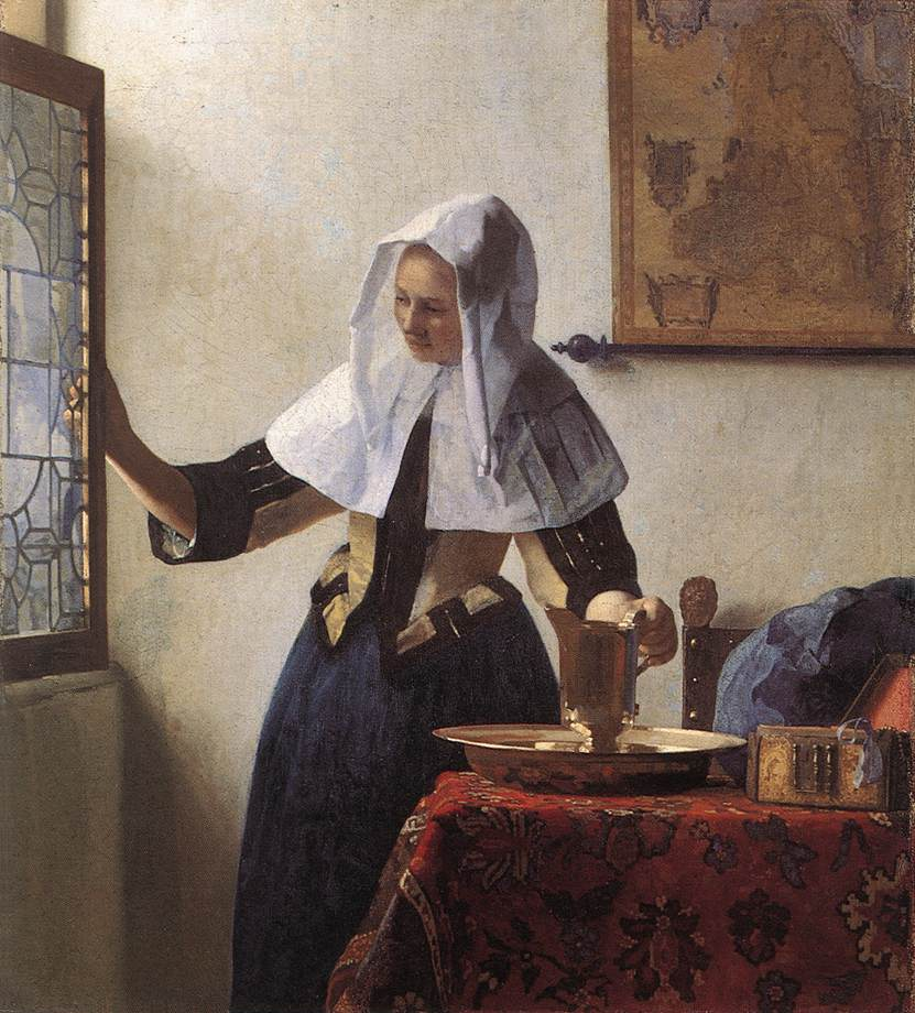 Jan Vermeer - Young Woman with a Water Jug