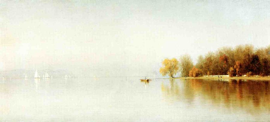 Sanford Robinson Gifford - An Indian Summer's Day on the Hudson - Tappan Zee