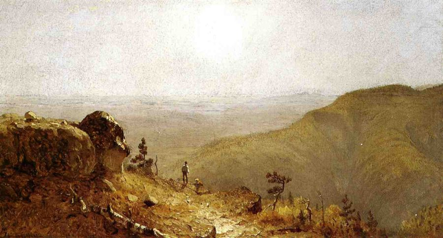 Sanford Robinson Gifford - Study for 'The View from South Mountain, in the Catskills'