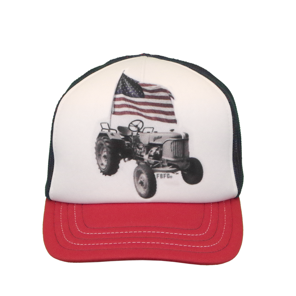 F73084378RD Children's Tractor & Flag Cap