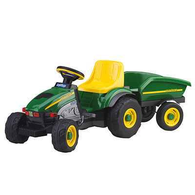 Farm Pedal Tractor with Trailer
