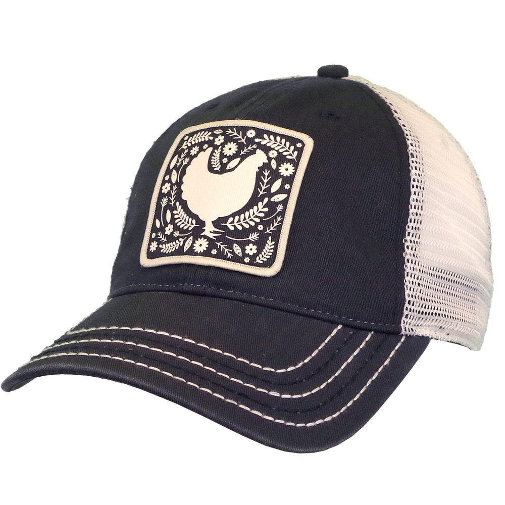 Chicken Sihouette Patch Cap