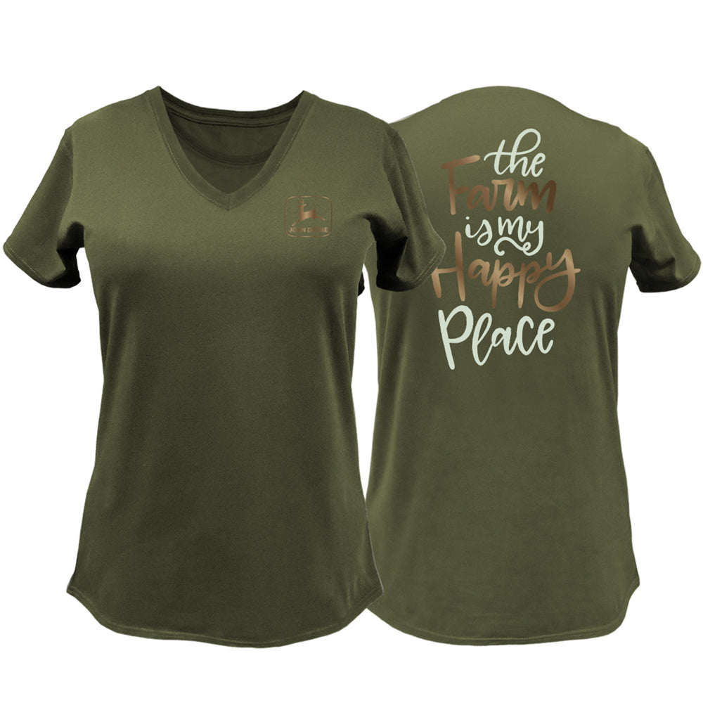 Womens Farm Happy Place tee Item #24885563OV