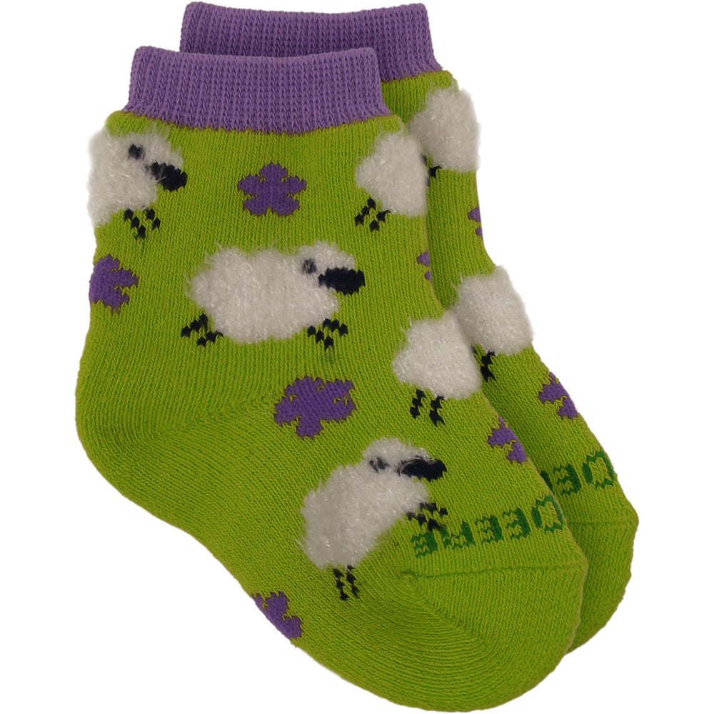 Lime Green Sheep Crew Sock LP69025