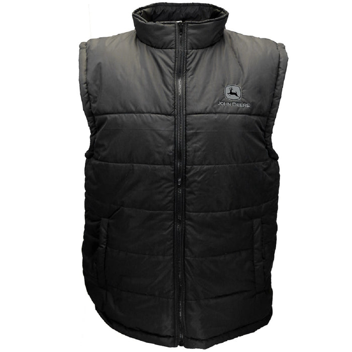 Black Polyfill Zipper Vest