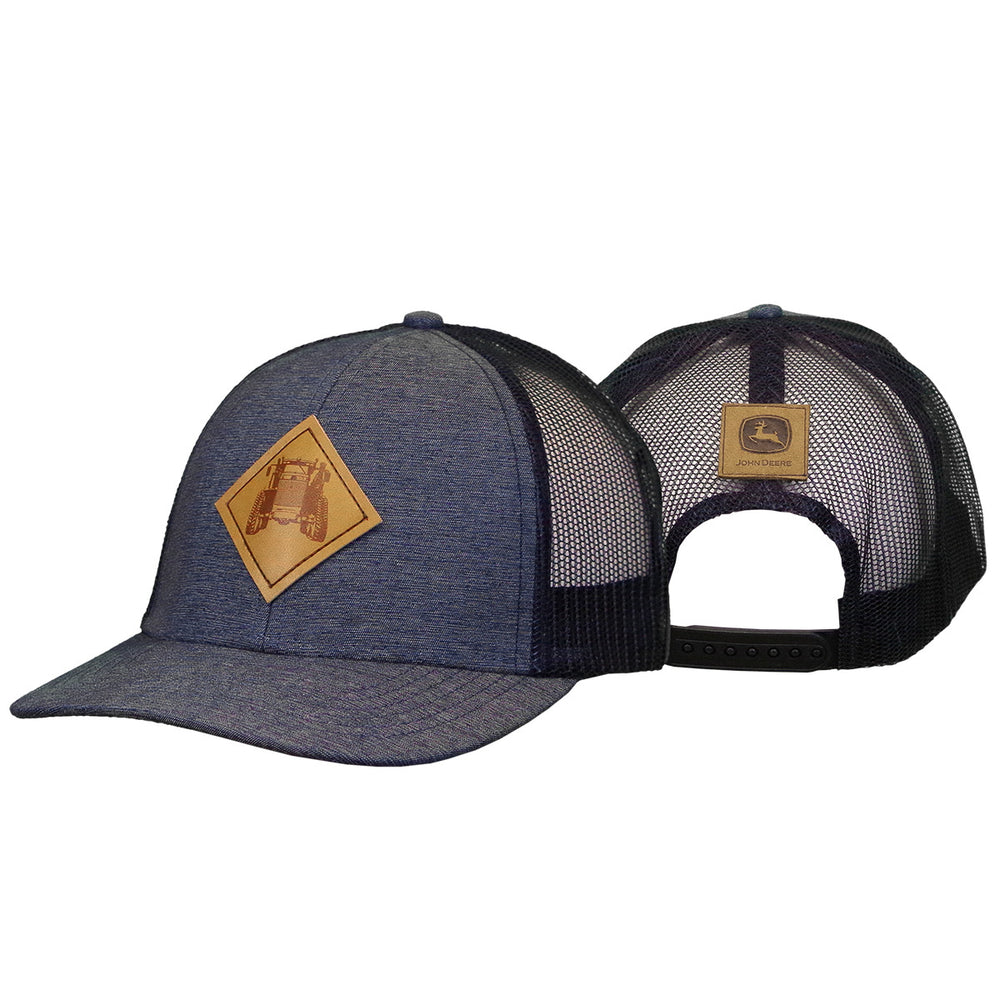 Leather Patch Navy Cap