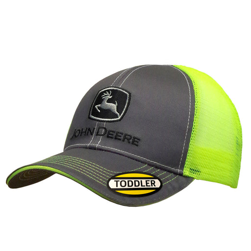 Kids Charcoal and Neon Yellow Cap