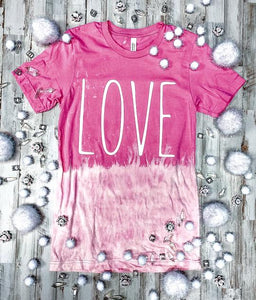 LOVE (Charity Pink Distressed)