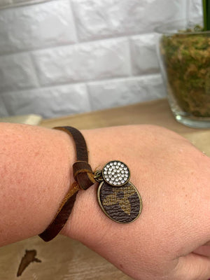 Authentic Upcycled and Recycled Designer Bracelet