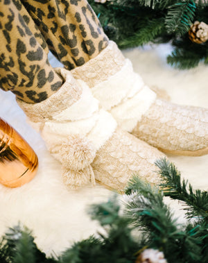 Cozy Cable Knit Slippers