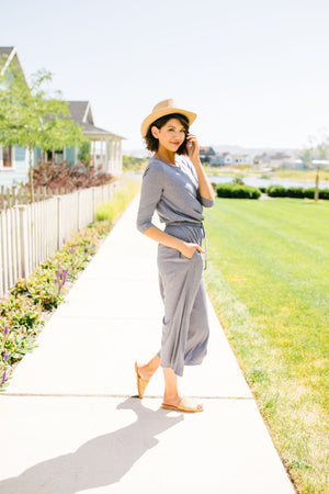 Cropped Wide Leg Jumpsuit