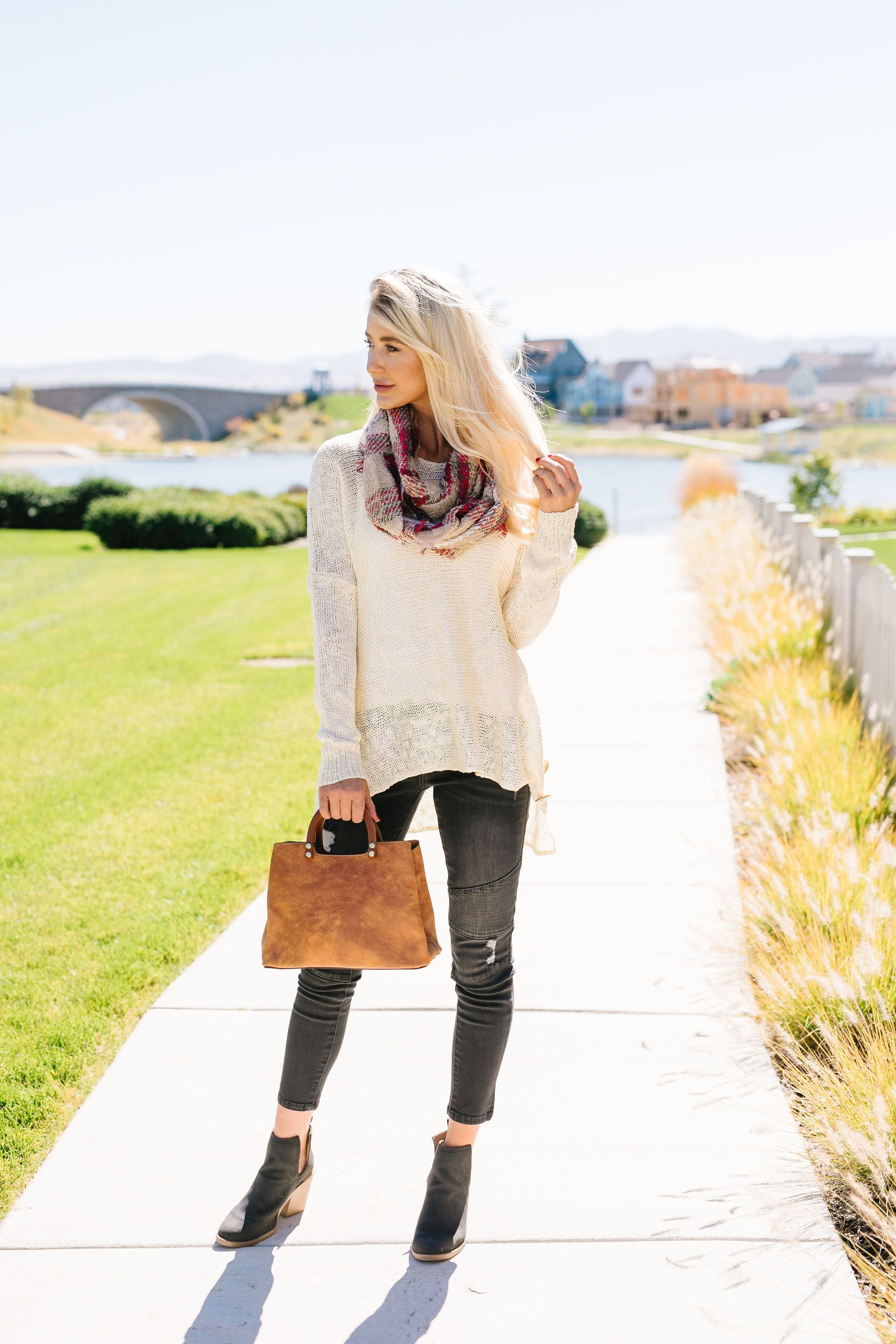 Fall And Beyond Infinity Scarf In Camel