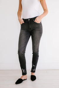 KanCan Gray Skies Mid-Rise Jeans