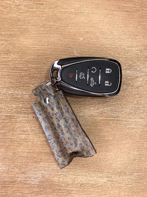 Authentic Upcycled and Recycled Designer Key Chain-Chapstick