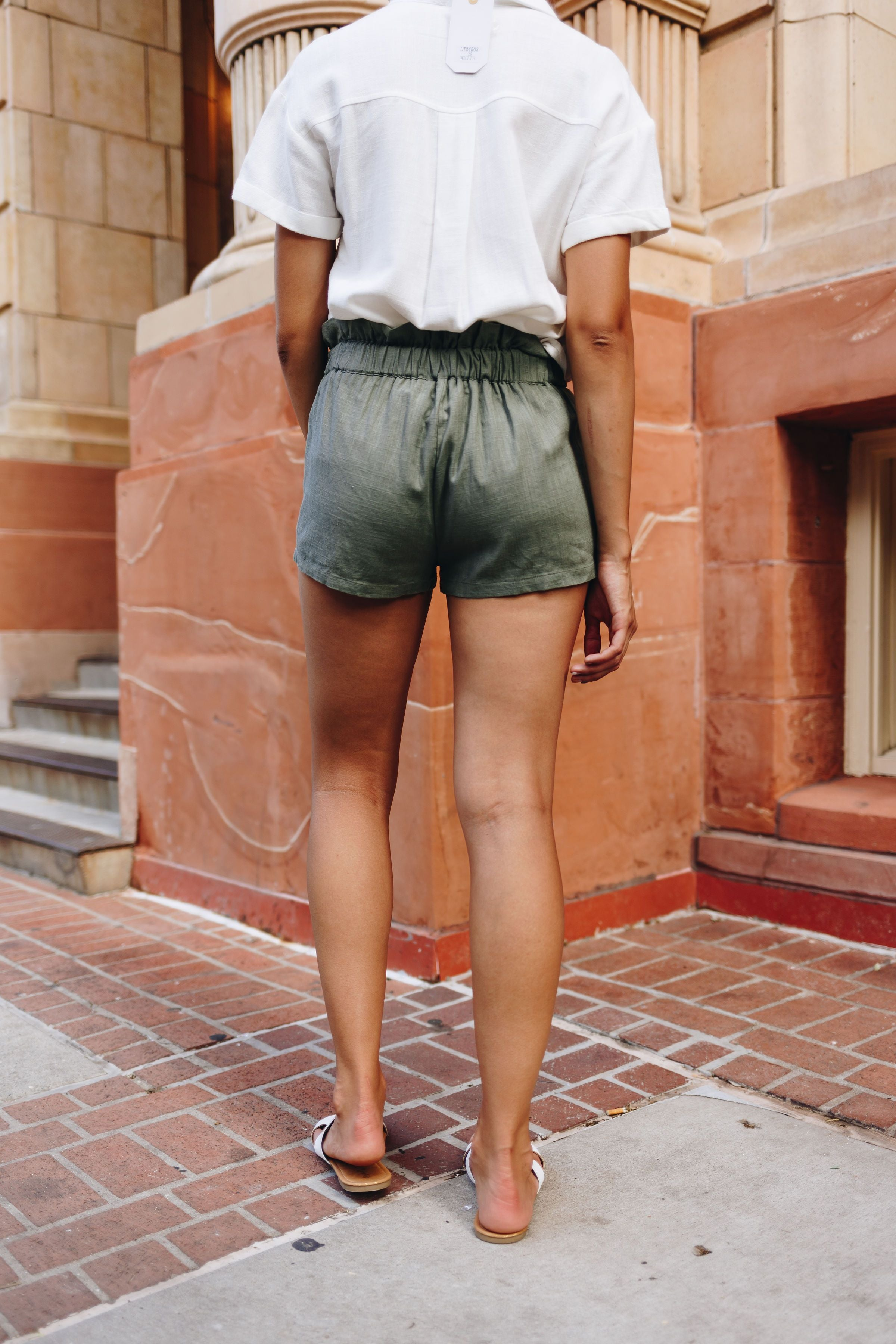 Short But Sweet Olive Shorts