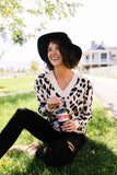 The Cat's Meow Leopard Sweater In Cream