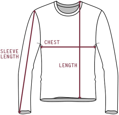 Sweatshirt measurement