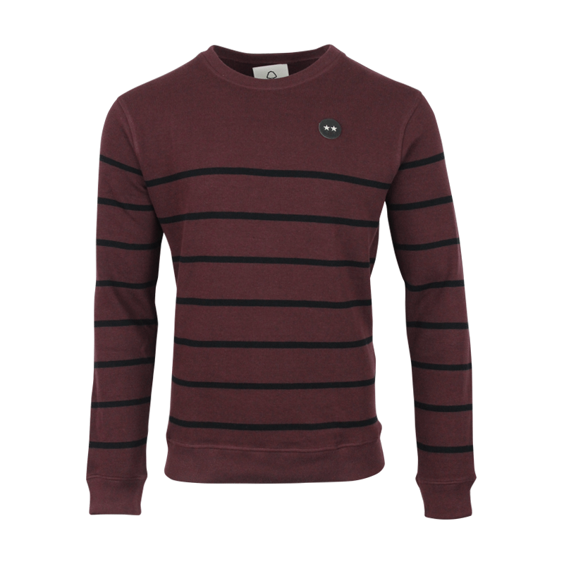 NFFC Mens Burgundy 2 Star Crewneck