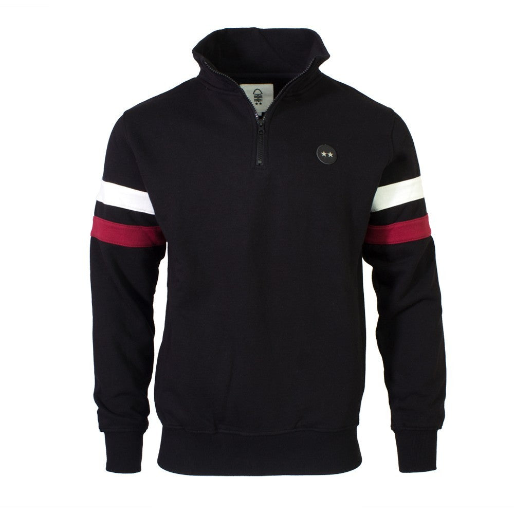 NFFC Mens Black 2 Star Half Zip Jacket - Nottingham Forest