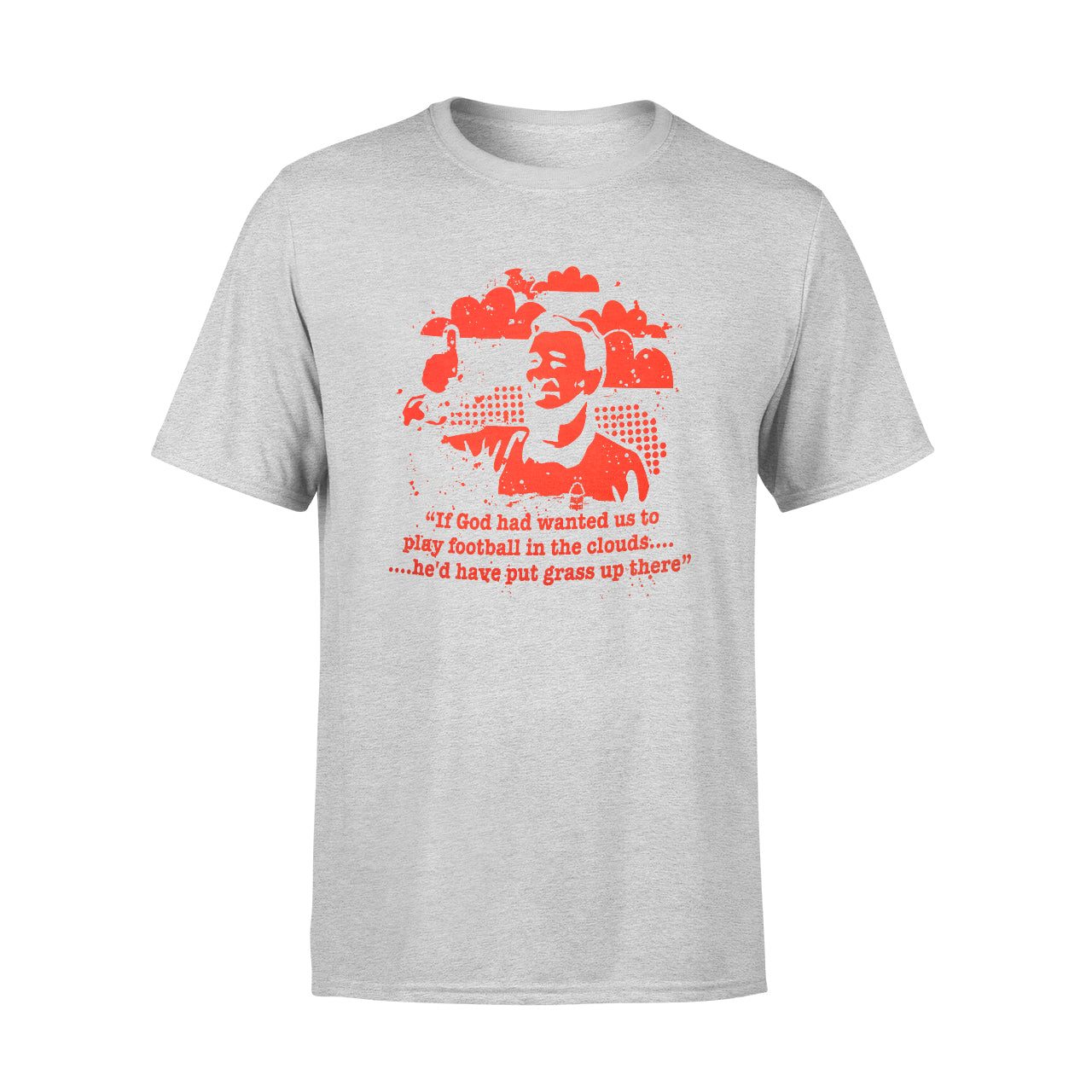 NFFC Mens Grey Marl Clough T-Shirt