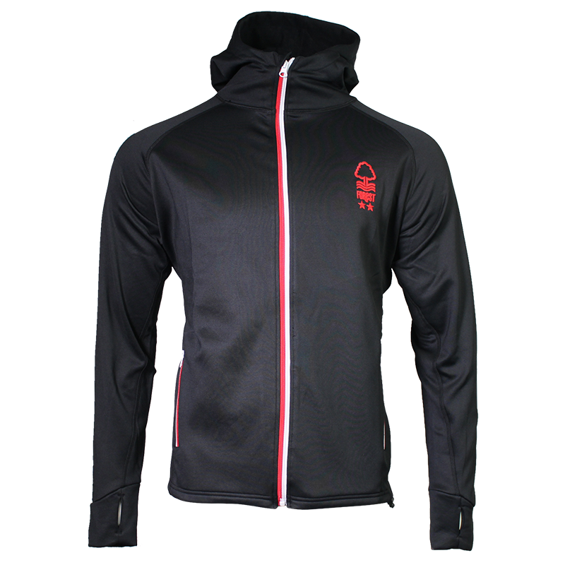 NFFC Mens Black Powerstretch Jacket - Nottingham Forest