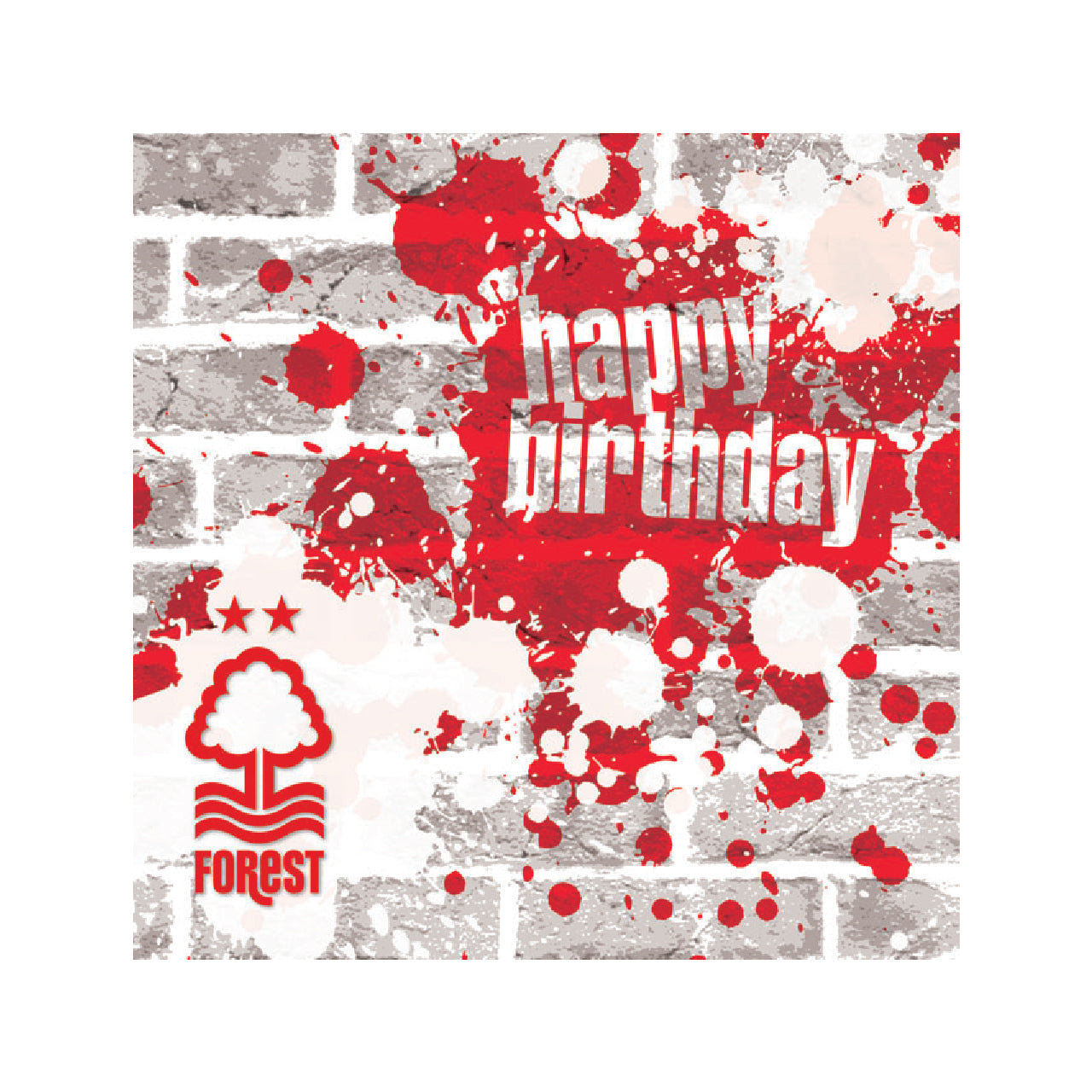 NFFC Happy Birthday Grafitti Card