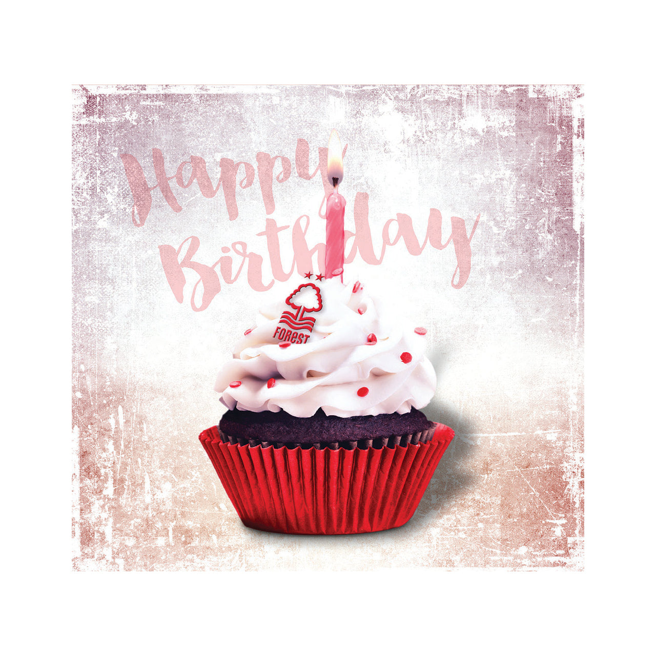 Remarkable Nffc Happy Birthday Cupcake Card Nottingham Forest Fc Funny Birthday Cards Online Overcheapnameinfo