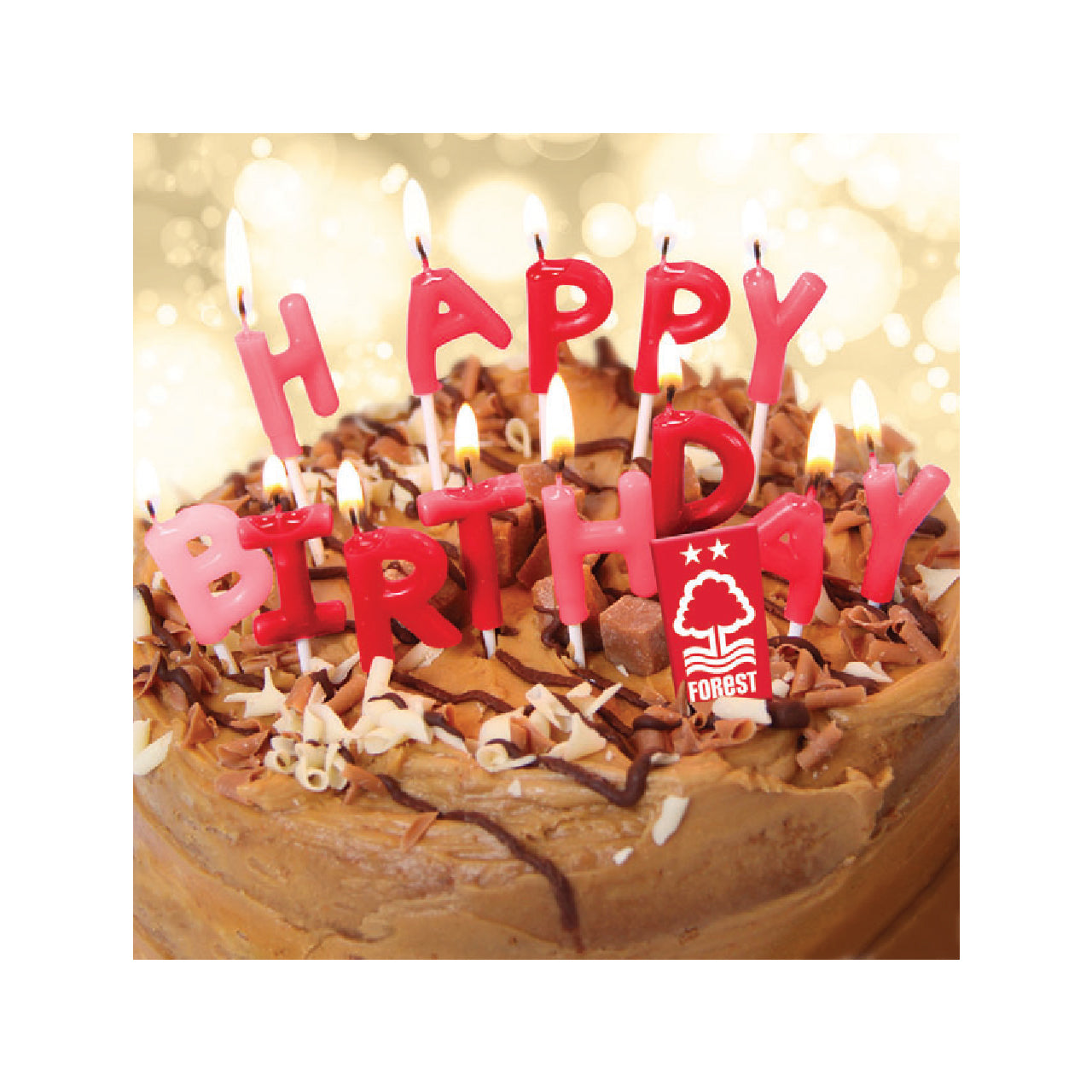 Magnificent Nffc Happy Birthday Cake Card Nottingham Forest Fc Funny Birthday Cards Online Overcheapnameinfo