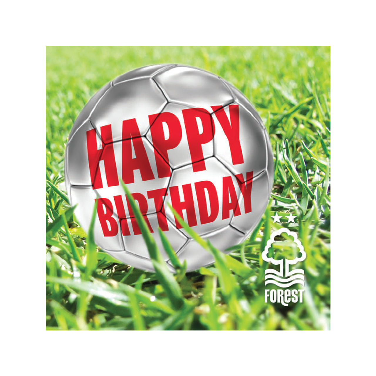 NFFC Happy Birthday Silver Card