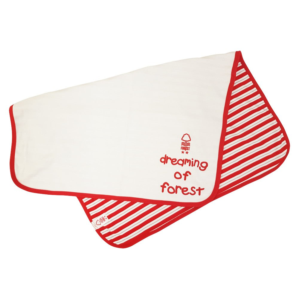 NFFC White Baby Blanket