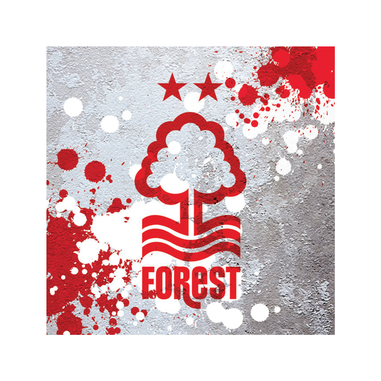 NFFC Crest With Splatter Background Card