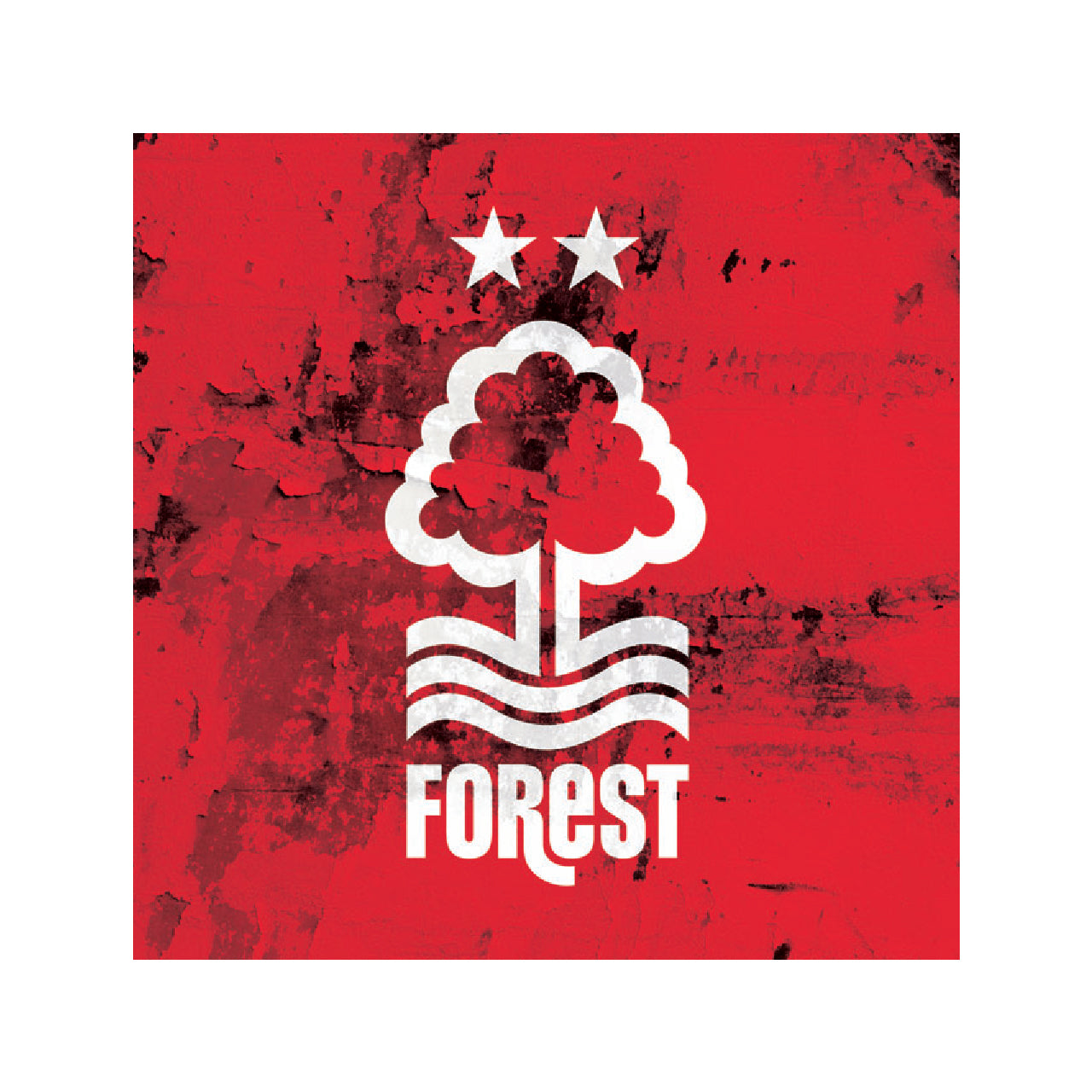 NFFC Crest Red Background Card - Nottingham Forest