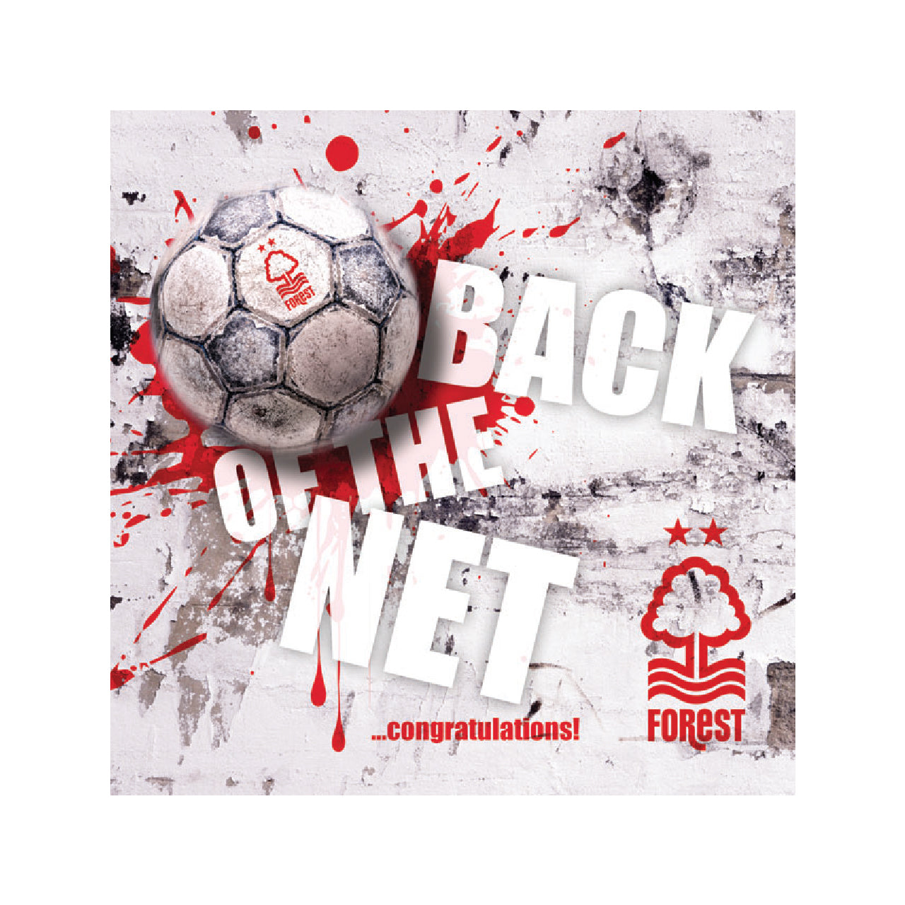 NFFC Back of the Net Card - Nottingham Forest