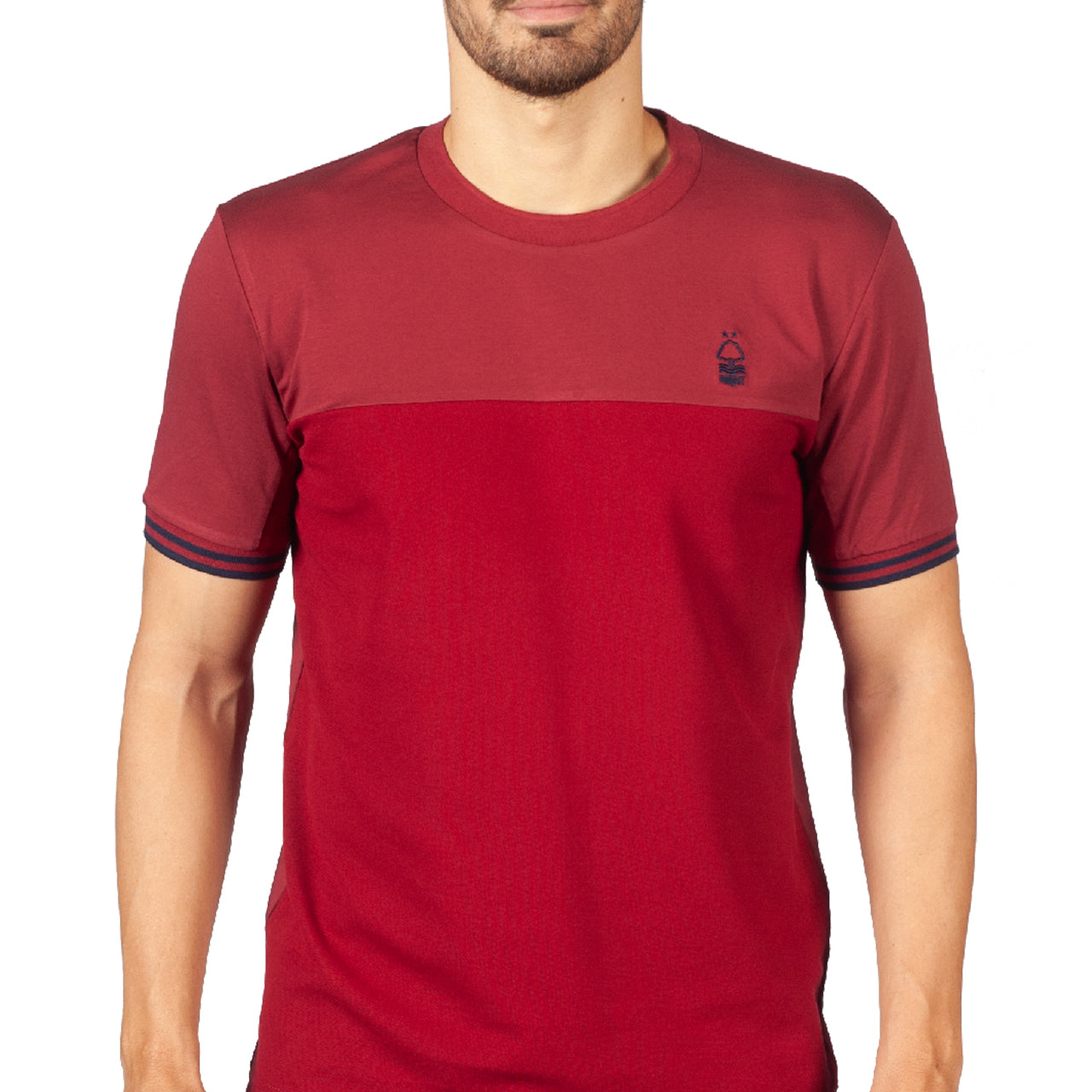 NFFC Mens Deep Red Pique Block T-Shirt