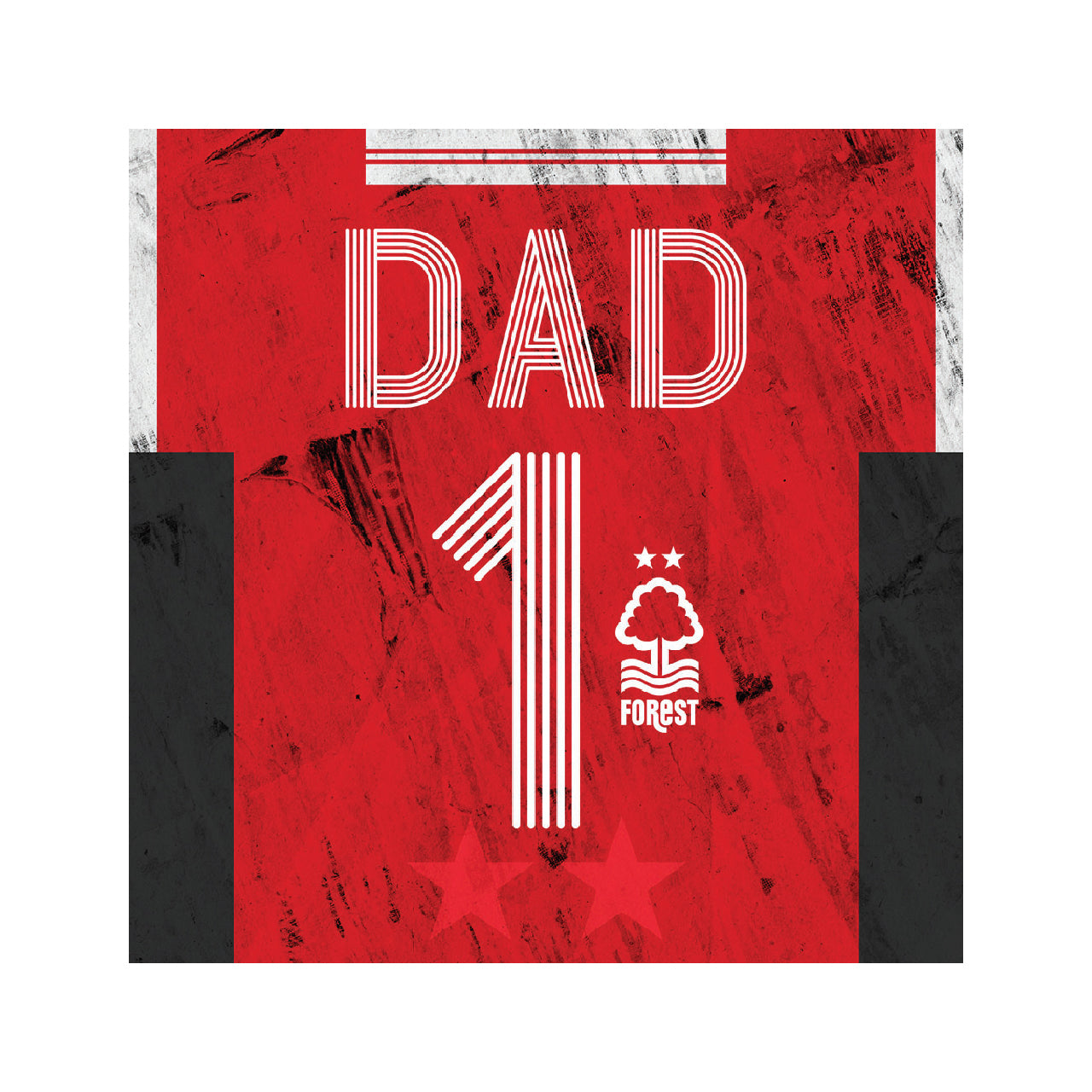 NFFC Number 1 Dad Retro Shirt Card