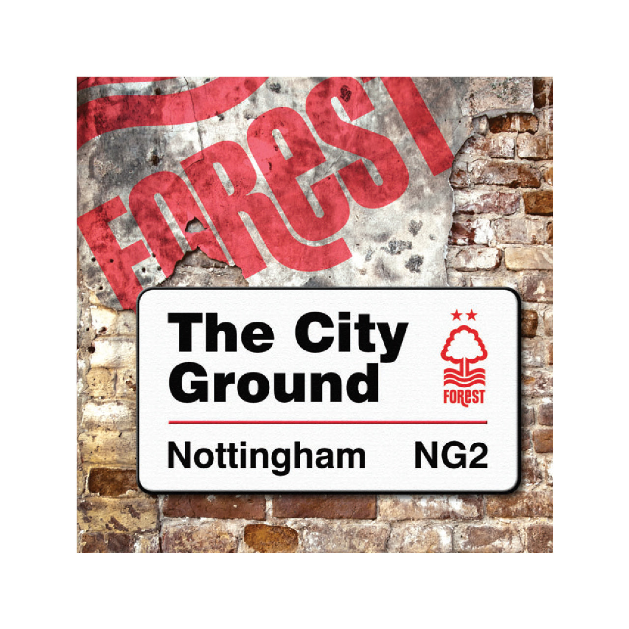 NFFC City Ground Sign Card - Nottingham Forest