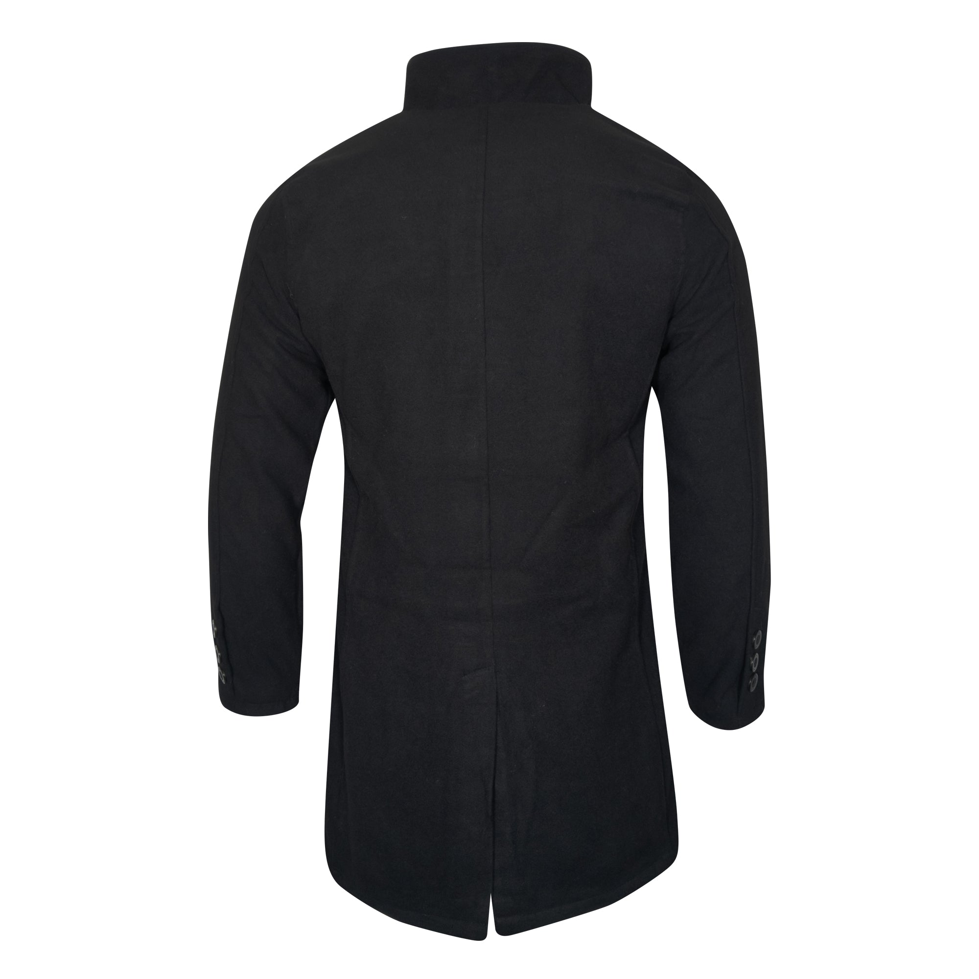 NFFC Mens Black Wool Coat