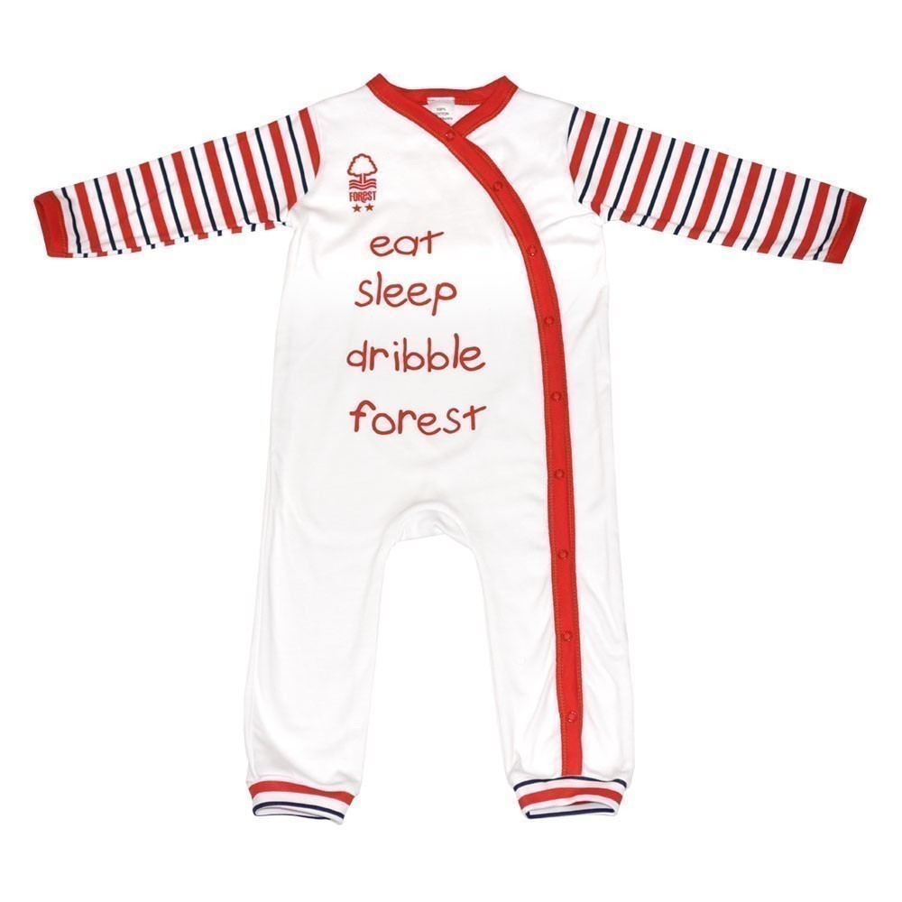 NFFC Baby Striped Sleepsuit - Nottingham Forest