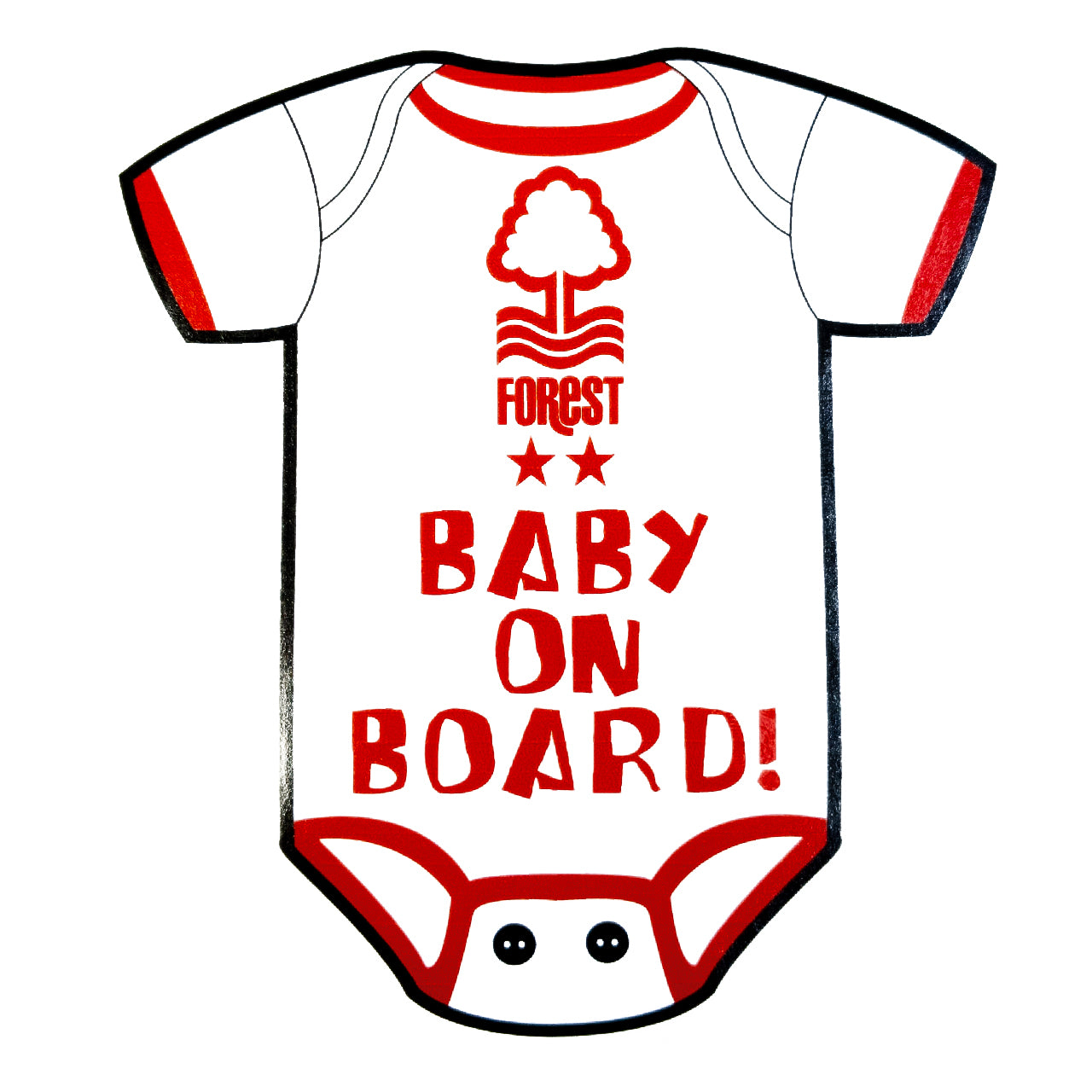 NFFC Baby on Board Car Sticker