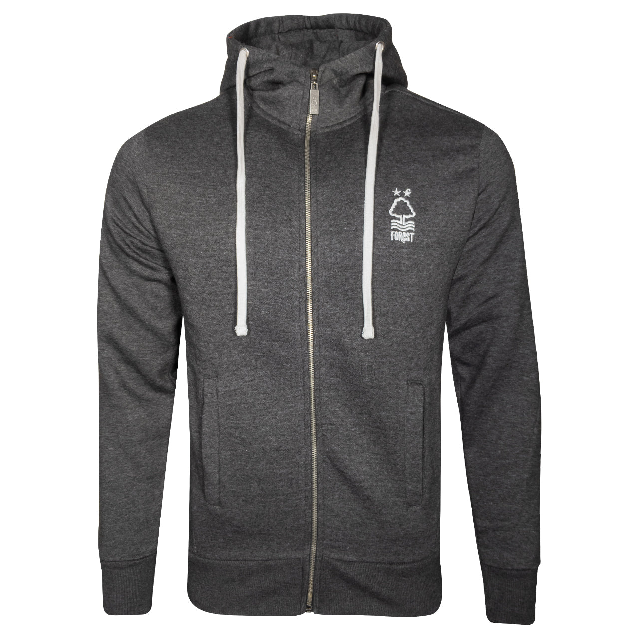 NFFC Mens Black Marl Essential Zip Hoodie
