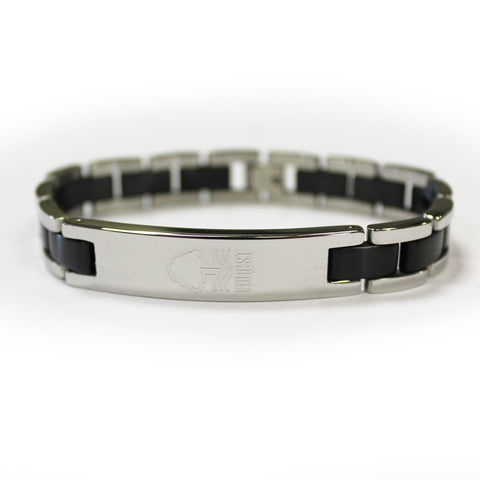 NFFC Black Inlay Crest Bracelet - Nottingham Forest