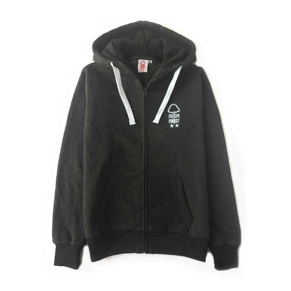 NFFC Girls Charcoal Marl Hoodie - Nottingham Forest
