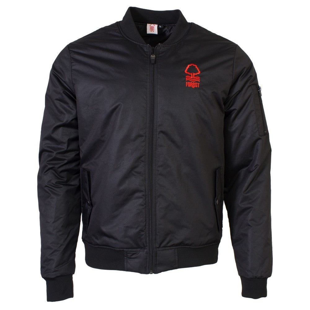 NFFC Mens Black Bomber Jacket - Nottingham Forest