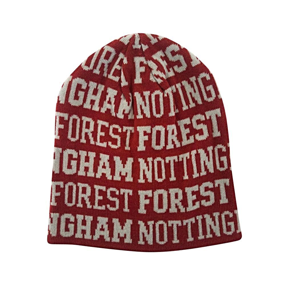 NFFC Adult Burgundy Repeat Beanie - Nottingham Forest