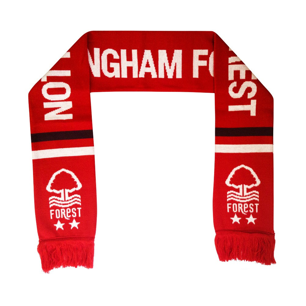 NFFC Burgundy/White Stripe Scarf - Nottingham Forest